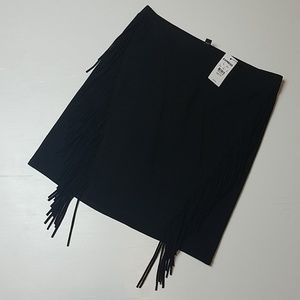 Express - Fringe Mini Skirt - NWT